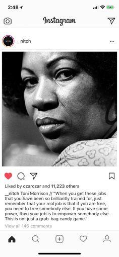 Toni Morrison // Nitch Toni Morrison, Nobel Prize, Melancholy, Favorite Quotes, Crowd, Africa, Sculpture, Inspired, Face