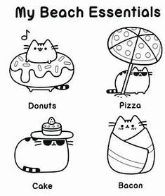 pusheen coloring pages to print 11 Best pusheen coloring pages images | Pusheen coloring pages  pusheen coloring pages to print