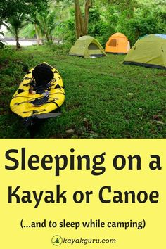 If you're going on a multi-day kayaking trip, it can be hard to bring everything that will make your sleep comfortable. In this article we look at some of the things you might need and how to find them for less money by doing a little research before heading out on your adventure! Kayak Camping, Camping And Hiking, Camping Hacks, Kayak For Beginners, Kayaking, Canoeing, Outdoor Activities, The Great Outdoors, Live Life