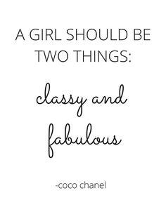 FREE 8.5 x 11 Printable | Coco Chanel Quote - Printable | DIY Home Decor | Style | Fashion www.elizavanstyle.com