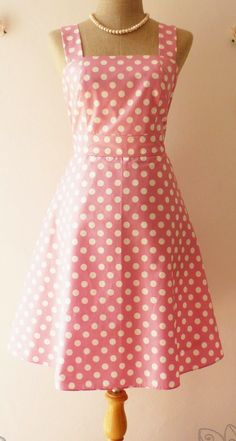Retro pink polka dot dress | Think Pink. | Pinterest | Posts ...