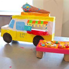 ice cream truck sculptures | www.handmakery.com/blog