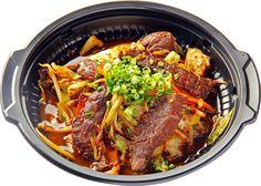 焼肉カルビ弁当 Bento Lunchbox, Bento Box Lunch, Japchae, Ethnic Recipes, Food, Essen, Meals, Yemek, Eten