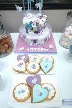 cake design flowers biscuits cookies