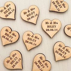 Personalised Wooden Heart Table Decorations Vintage Rustic Weddings,  wedding decorations, personalised hearts, personalized hearts, wooden hearts, wedding tags, wedding invitations, wedding save the day, venue decorations, wedding favours, personalised wedding, personalized wedding, wedding moments, favours wedding favors, wood heart, love Wedding Favours Confetti