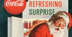 """Illustrator Haddon Sundblum created many Coca-Cola ads that featured Santa Claus. """"Stock Up for the Holidays"""" comes from around 1953."""