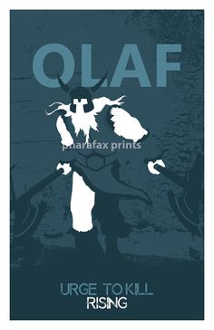 Olaf League of Legends Print by pharafax on Etsy