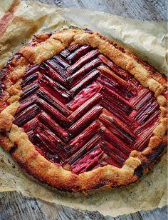 Rhubarb Galette Chez Panisse - The Happy Foodie