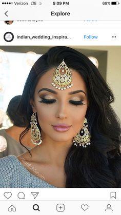 32 Ideas pakistani bridal makeup make up indian beauty Pakistani Bridal Makeup, Indian Wedding Makeup, Asian Bridal Makeup, Bridal Makeup Looks, Bridal Hair And Makeup, Hair Makeup, Bridal Nails, Indian Wedding Hairstyles, Indian Party Makeup
