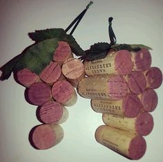 Wine Cork Ornaments | Grape Bunch Wine Cork Ornaments Wall Decor Hanging | eBay