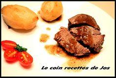 Le coin recettes de Jos: RÔTI D'ORIGNAL À LA BIÈRE ET JUS DE TOMATES Camembert Roti, Steak, Beef, Coin, Moose, Beer Dip, Food, Savages, Meat