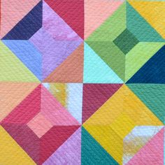 Baby Quilt Modern Quilt Hand Dyed Fabric Wall by TwiggyandOpal