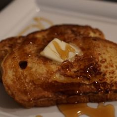 Best French toast topped with butter and syrup
