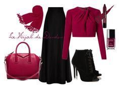 """""""Hijab Outfit"""" by le-hijab-de-doudou ❤ liked on Polyvore featuring Tabitha Simmons, Rosie Assoulin, Forzieri, Andrea Marques, Chanel and Givenchy"""
