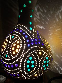 Charming beautyTiny Gourd Art Drop LampshadeReady by studiotempera