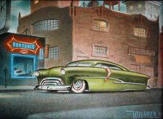 Missed fortune - Keith Weesner: Cool Car Drawings, Cartoon Drawings, Cartoon Art, Rat Fink, Frankenstein Art, Cars Coloring Pages, Cartoon Monsters, Garage Art, Lowbrow Art