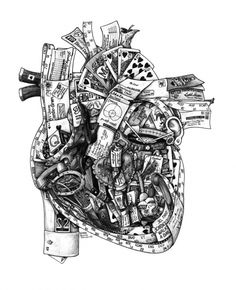 CARD-IOLOGY: Cutting straight to the Cor of medical practice, this pun-filled coronary cross-section is constructed of cards, with a cardiac theme - including, of course, an entire suite of hearts!