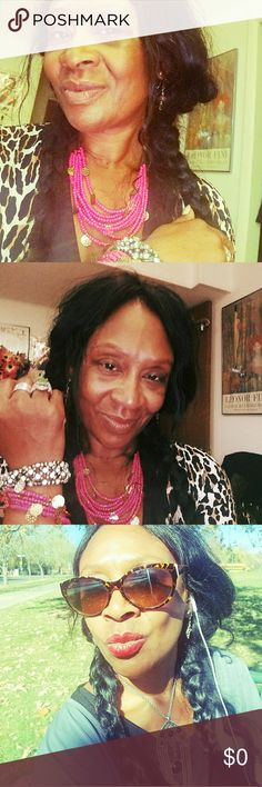 Shsring for Kathy! Beautiful jewerly!! Beautiful pink beads: necklace and bracelet, gorgeous!! It's LIKE jewelry from India, and the Vintage necklace is my favorite,  it looks so nice with my black onyx earrings,  Thank you so much Kathy,  you and your sister are AAA Posh sellers!!!! 😍😍😍😍😍😍☺☺☺😚😙😙😙😙 Jewelry Earrings