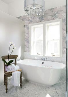 """Freestanding bathtub is """"Amiata"""" by the British manufacturer Victoria & Albert"""