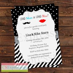 Little Man or Little Miss Gender Reveal Baby by CSExpressions