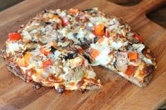 BBQ chicken pizza: low carb and gluten free!