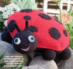 W296+Crochet+PATTERN+ONLY+Ladybug+Toy+Doll+or+Pillow+Pattern