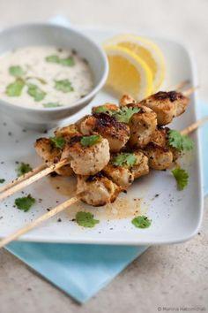 Brochette de poulet au yaourt