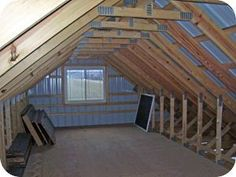 Image result for low ceiling attic renovation unfinished