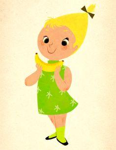 Mary Blair - Banana girl