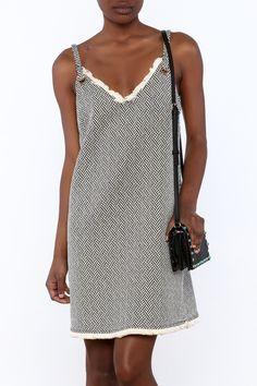 92d48575b3cf8 Shoptiques Product  Grommet Shift Dress - main Black White Fashion
