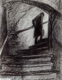 """Достоевский """"Преступление и наказание"""", Иллюстрация Д. Шмаринова."""
