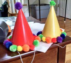 Rainbow party hats!