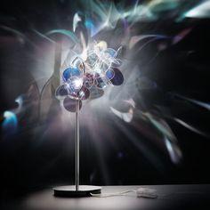 leslieseuffert:  Mille BolleandZaha Hadid The Leading Light: Table Lamp