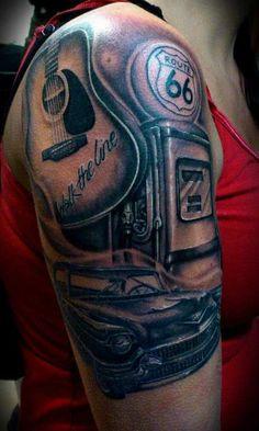 Johnny cash tribute tattoo