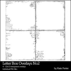 Letter Box Overlays No. 02