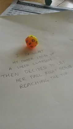 Classic dice shaming... Miller and Johann would appreciate this :P