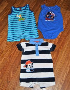 7a3fe370b7 12 months Boys Lot Rompers EUC Spring Summer Outfit Shorts   ChildofMinebyCarters  Casual