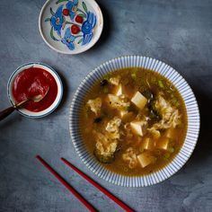 This hot-and-sour soup is a thinner, lighter version of the classic. Get the recipe on Food & Wine.