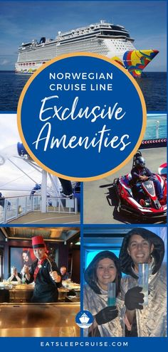 """If you are looking for a cruise vacation that has awesome amenities like rocketing down the fastest drop slides at sea and """"walking the plank"""" then you have come to the right place! Here are the Top 10 things you can only find on the Norwegian Cruise Line. From freestyle dining, the Svedka Ice Bar, to the fastest waterslides at sea and so much more. Check out all the things you can only find on NCL on our blog post and get excited about your next NCL cruise! Cruise Checklist, Cruise Tips, Best Cruise, Cruise Vacation, Top Cruise Lines, Walking The Plank, Cruise Reviews, Norwegian Cruise Line, Ship"""