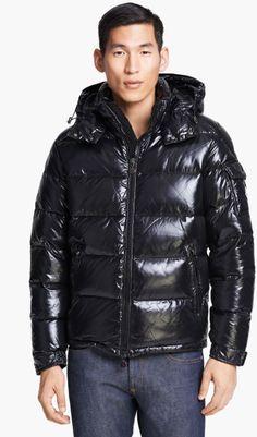 moncler maya black jacket