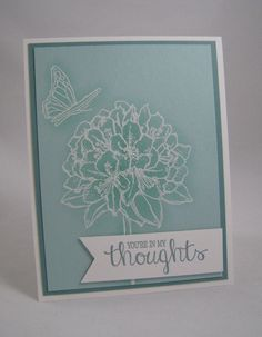 Sponging Embossed Images and Best Thoughts -Stampin' Up by Miechelle Weber www.stampinu.wordpress.com