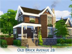 Old Brick Avenue 28 - The Sims 4 Catalog Sims 4 Ps4, Sims 4 Game, Sims 3, Sims 4 House Plans, Sims 4 House Building, Lotes The Sims 4, Sims 4 House Design, Casas The Sims 4, Sims 4 Build