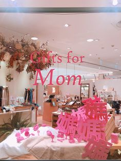 Shop window for mother's day