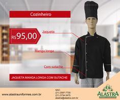 Começando a semana dando prosseguimento as nossas promoções de Jaqueta de Chef.