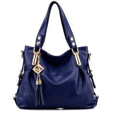 Women Casual PU Leather Pendant Handbag Crossbody Bag - Loluxe - 1