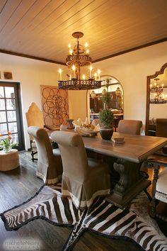 Dining Room MichelleNiday Interiors LOVE The Zebra Rug!