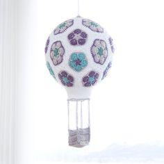 African Flower Hot Air Balloon free crochet pattern