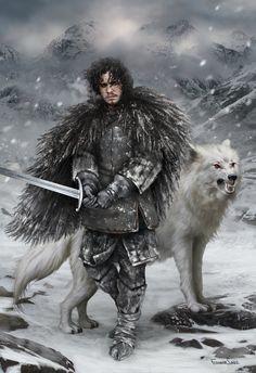 Tony Zasa | Jon Snow x Ghost