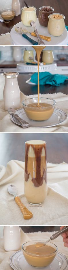 Creamy Paleo Pudding 4 Flavors {dairy-free corn-free} Vanilla Chocolate Peanut Butter (not strict) and Butterscotch Dairy Free Recipes, Paleo Recipes, Whole Food Recipes, Gluten Free, Yummy Treats, Sweet Treats, Yummy Food, Paleo Dessert, Healthy Sweets