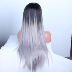 Image de hair, grey, and beauty